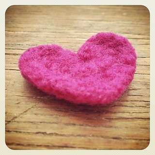 Crocheted and felted tiny heart. | by SmithDryGoods