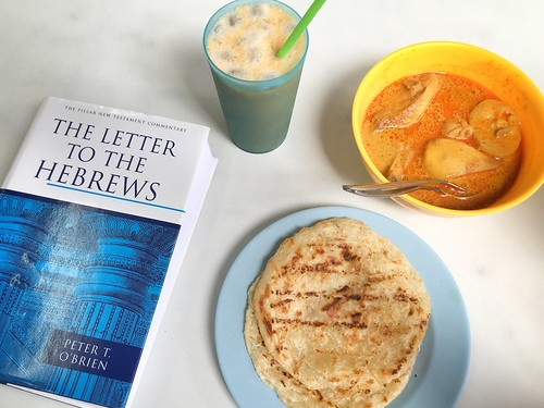Peter O'Brien's Commentary on Hebrews, prata, curry chicken at Killiney Kopitiam, Singapore