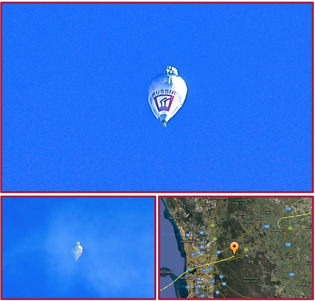 "We had a splendid view of Fedor Konyukhov""s balloon passing over Fremantle on 23 July 2016."