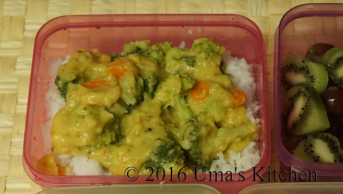 Carrot broccoli gravy