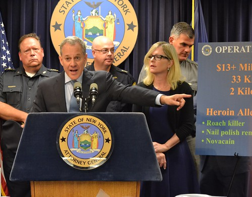 "A.G. Schneiderman, New York State Police, Massachusetts DEA Task Force Announce Takedown Of Nationwide Drug Ring In ""Operation Dirty Dope"""