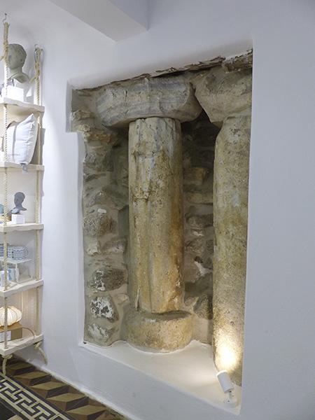 colonne dans le couvent des ursulines
