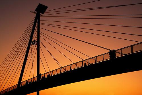 244, Sunset around bridge