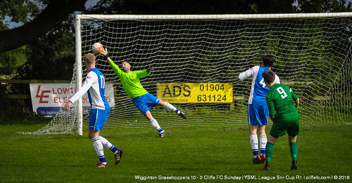Cliffe FC Sunday 2 - 10 Wigginton Grasshoppers (League Snr Cup) 4Sept16