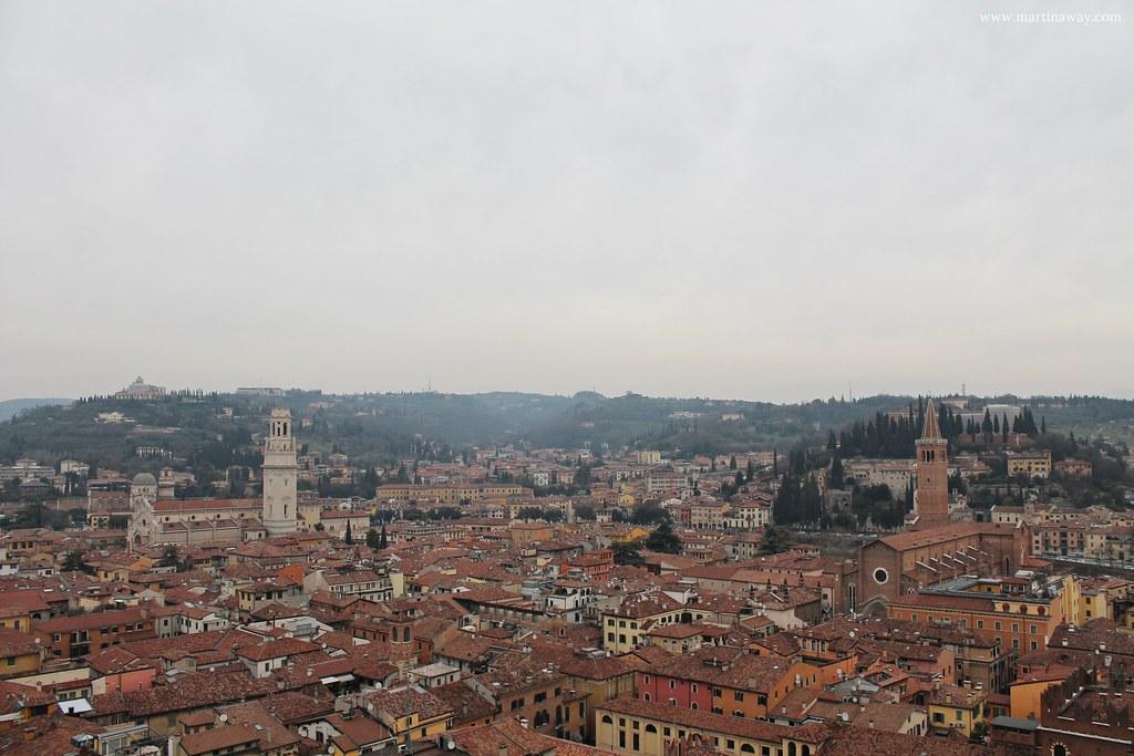 Verona dalla Torre dei Lamberti