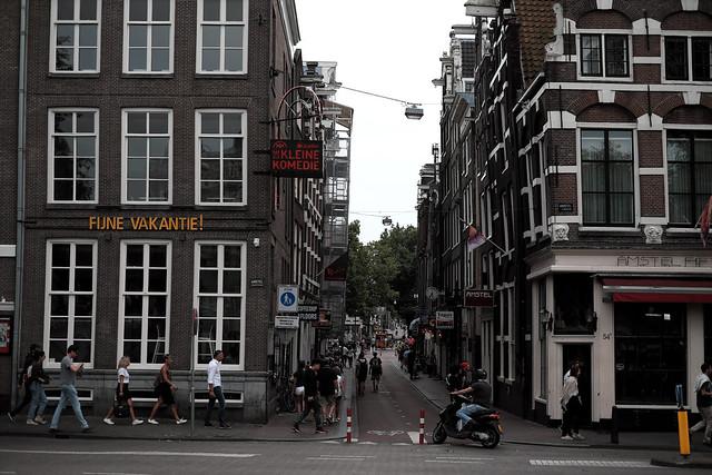 at a corner of Amsterdam
