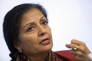Lakshmi Puri, Acting Head of UN Women, speaks at the Conference on Women's Leadership in the Sahel | by UN Women Gallery