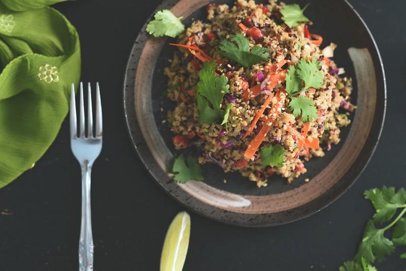 Crunchy Quinoa Salad + Miso Tahini Dressing