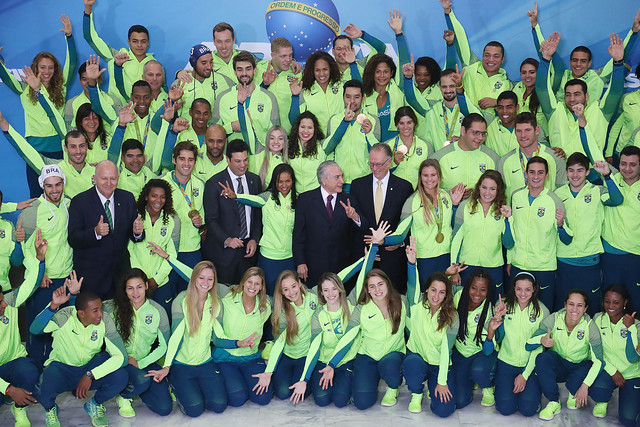 Cerimônia de recepção aos atletas olímpicos