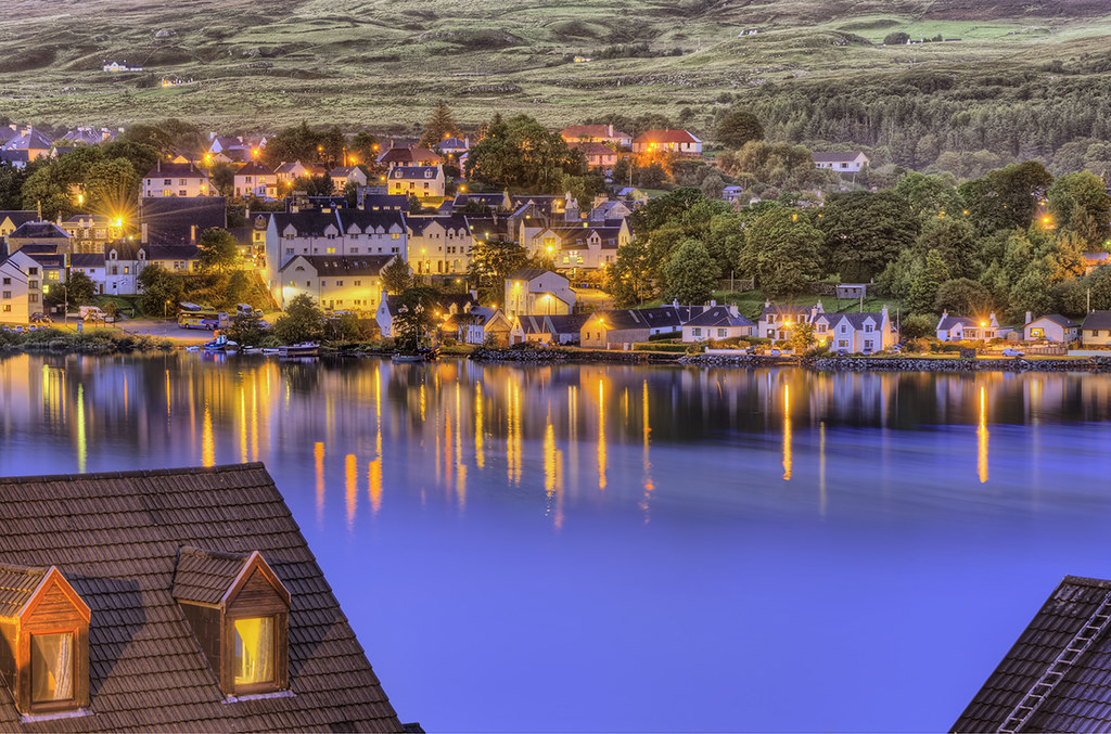 Portree, Scotland (Isle of Skye) at Night