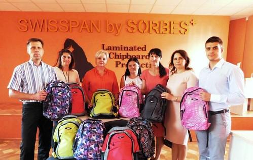 Підприємство «Свиспан Лімітед» долучилось до благодійної акції на допомогу школярам Луганщини
