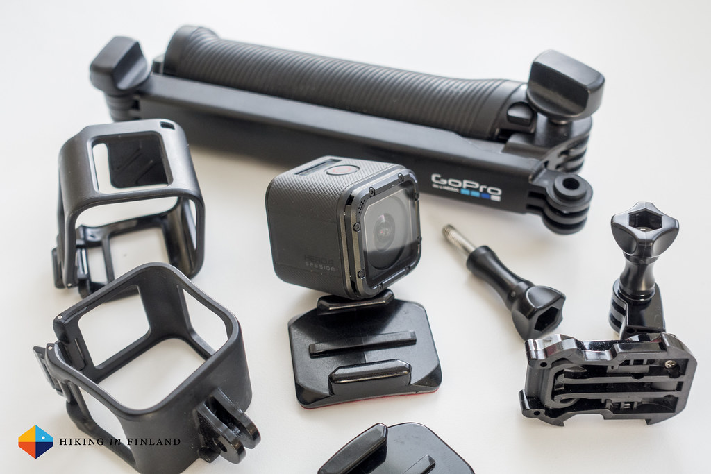 GoPro HERO4 Session and lots of mounts
