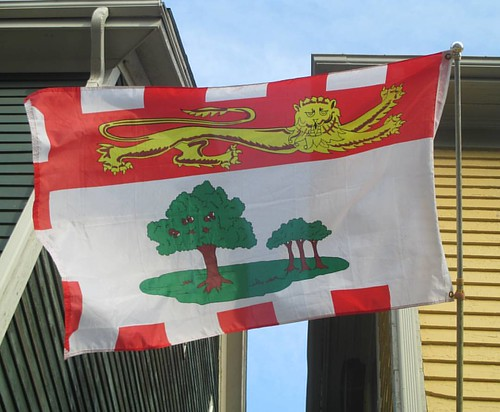 Flag of Prince Edward Island, caught on a breeze #pei #charlottetown #princeedwardisland #canada #flags