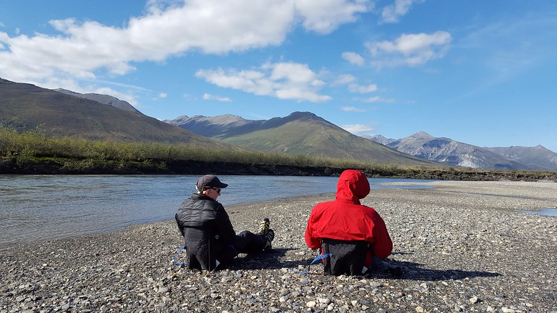 L&F grabbing some shore along the Noatak River in Gates of the Arctic NP