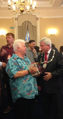 Val McDermid and Provost Mike Robbins