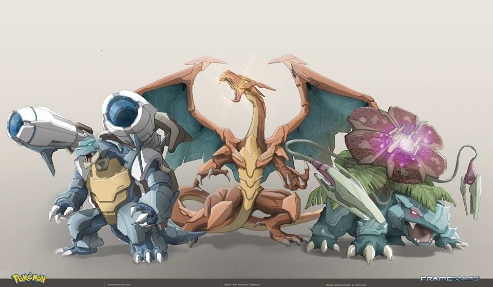 Metal Hybrid Pokemon by Frame Wars