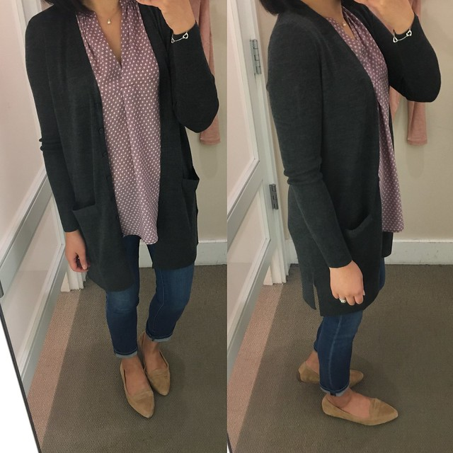 Long V-Neck Cardigan, size SP