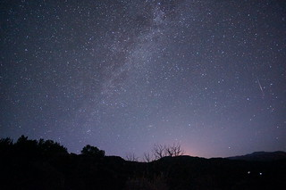 Base Frame with Meteor and Glow of Taos and Milky Way | by ikewinski