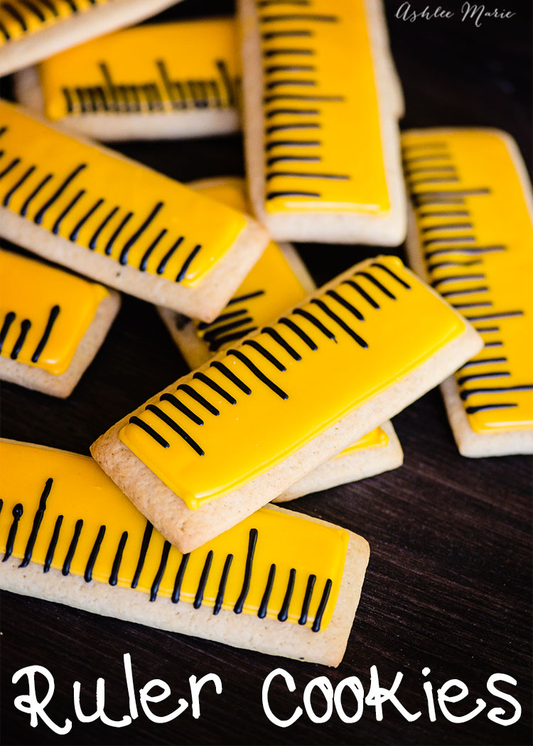 fun back to school ruler sugar cookies! a recipe and video tutorial!