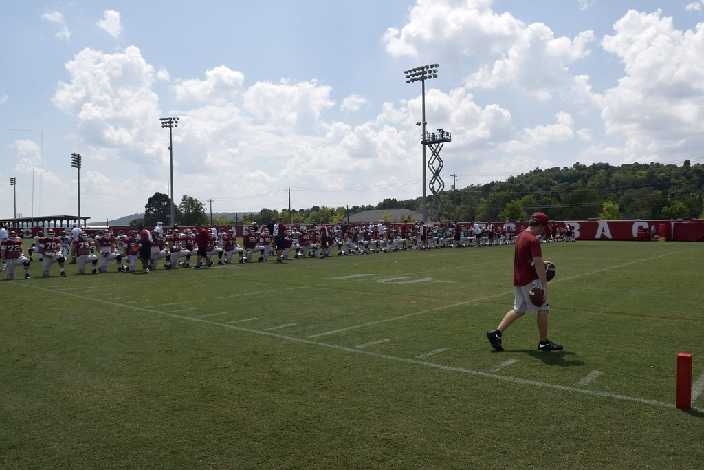 Arkansas football practice, 8/11/2016