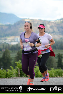 Kelowna half marathon 2016 - actually smiling