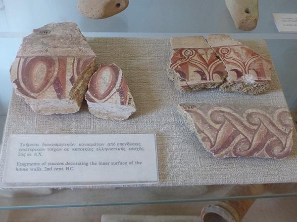 fragments de fresques 2ème siècle avant JC.