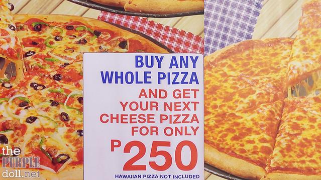 S&R Pizza Promo