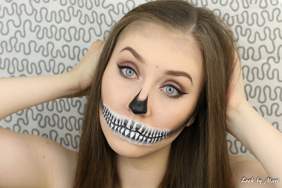 2 halloween skull makeup tutorial