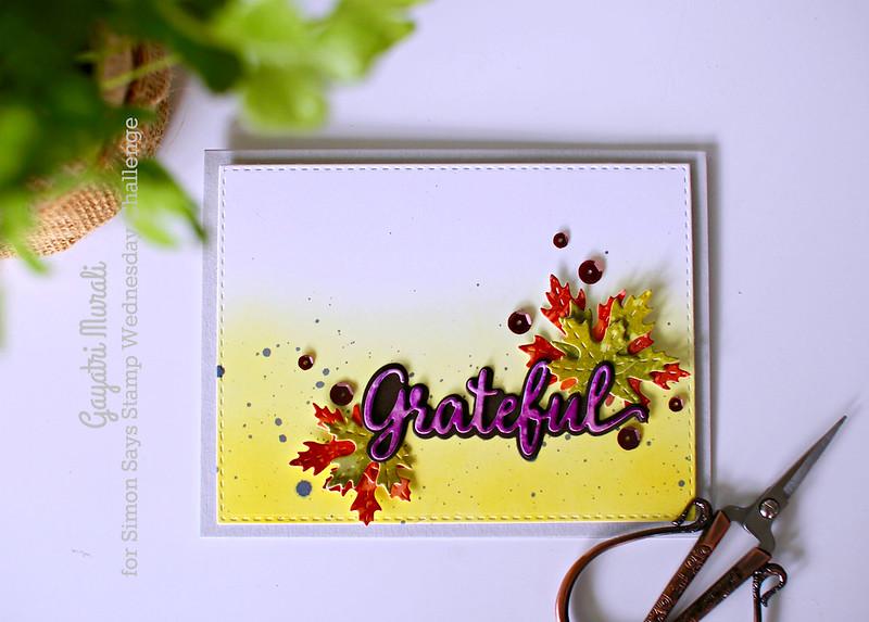 Grateful card flat