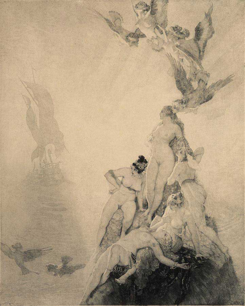 Norman Lindsay - Unknown Seas, 1922