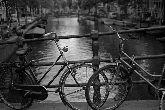 Bike at canal in Amsterdam 42