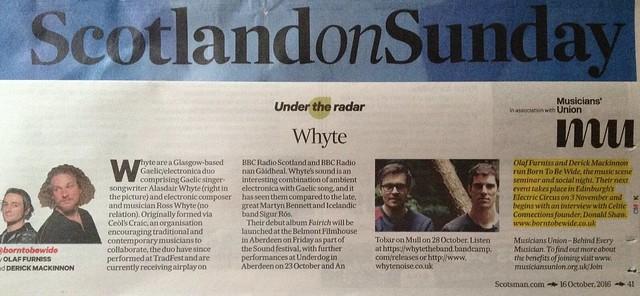 Scotland On Sunday, 16 October 2016, Whyte