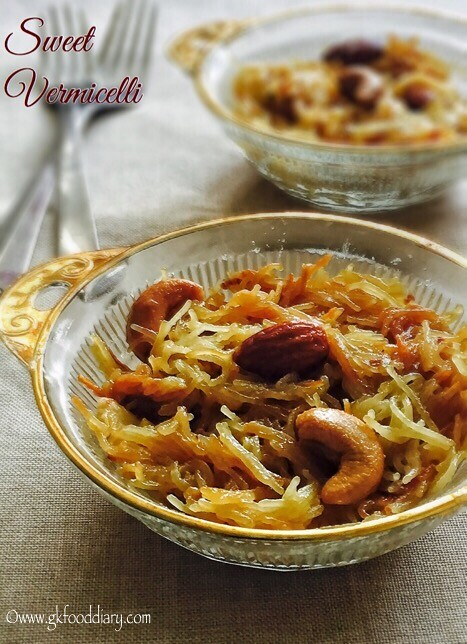 Sweet Vermicelli Recipe for Toddlers and Kids