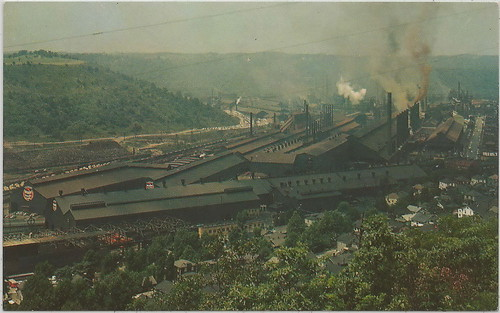 INDUSTRY MILLING IRON & STEEL Weirton West Virgina THE WEIRTON STEEL COMPANY WORKS Coke Ovens Furnace Operation and Production Areas