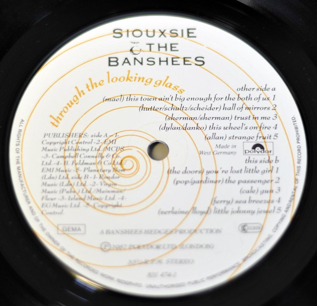 """SIOUXSIE & THE BANSHEES THROUGH THE LOOKING GLASS 12"""" LP VINYL"""