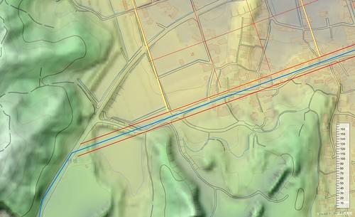 持坂東 3D地図