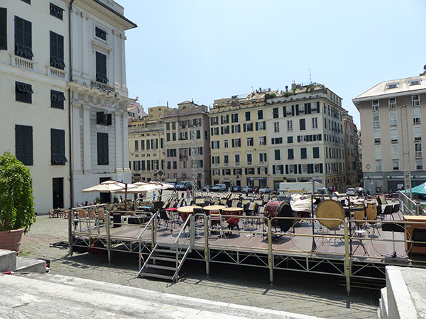 scène musicale Gênes