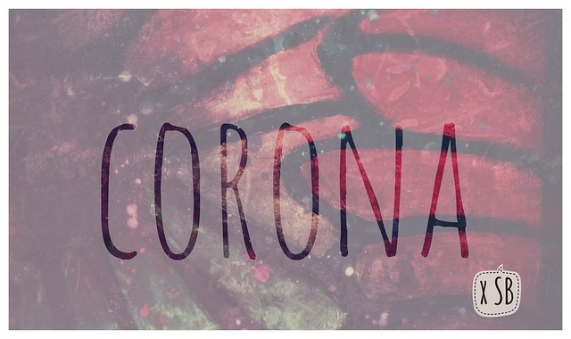 Corona - Banner with inverted text, by SB