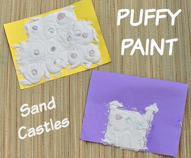 Puffy Paint Sand Castles
