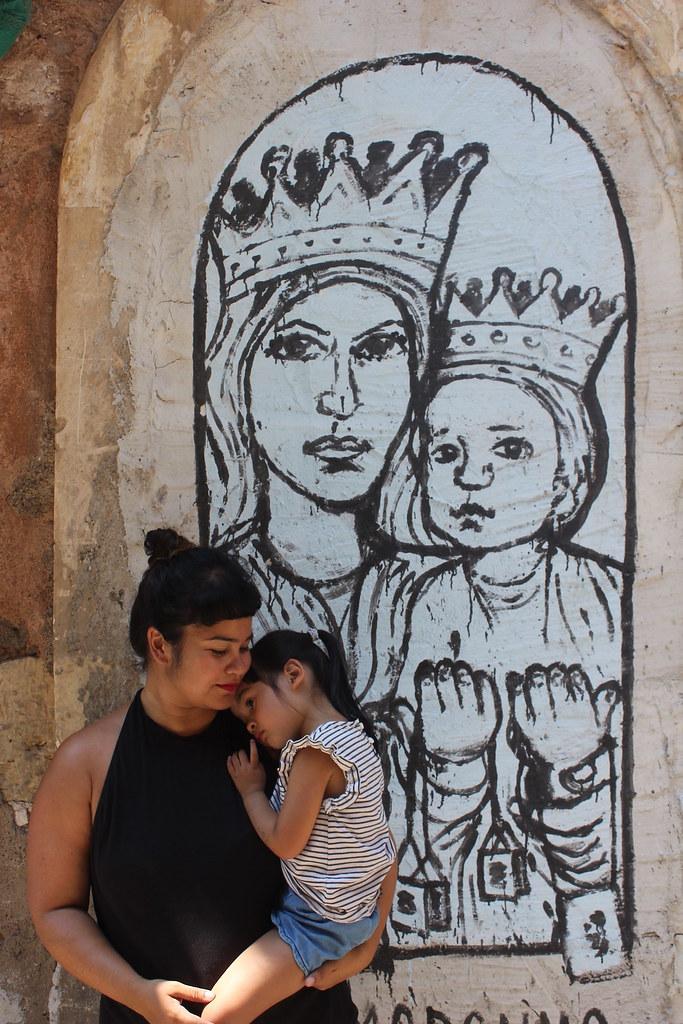 Street art Catania San Berillo district Madonna del Carmen