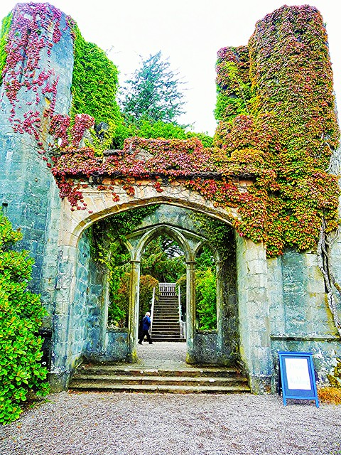 Romantic ruins, Armadake Castle, Skye, Scotland.