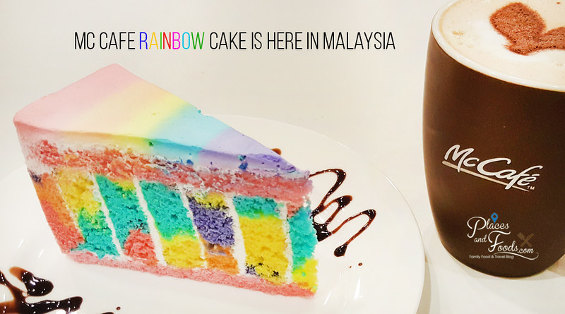 mc cafe rainbow cake