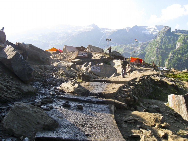 Pissu Top during Amarnath Yatra 2016, Jammu and Kashmir, India