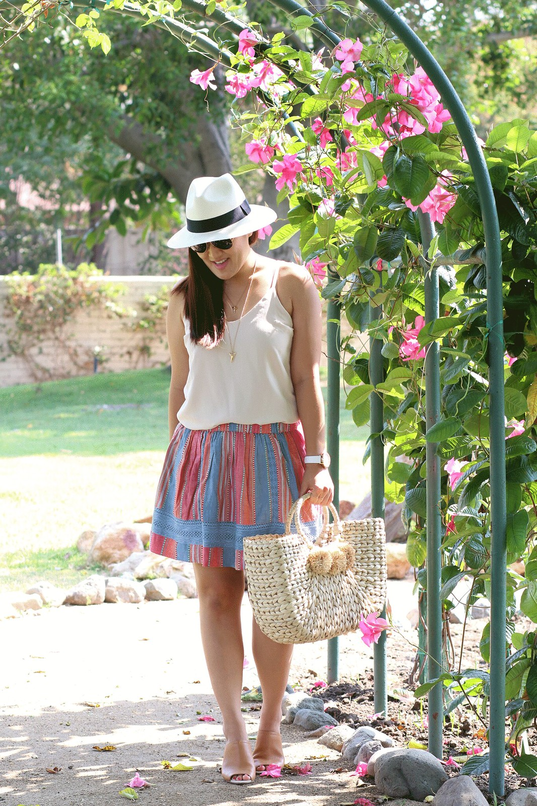 simplyxclassic, hat attack tote, shop bop, revolve, dra skirt, orange county, fashion blogger