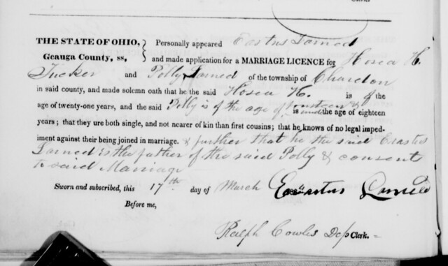 Application for Marriage License