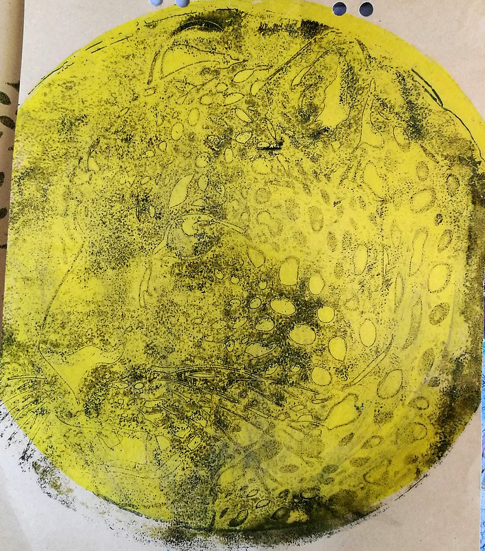 gelli plate printing session