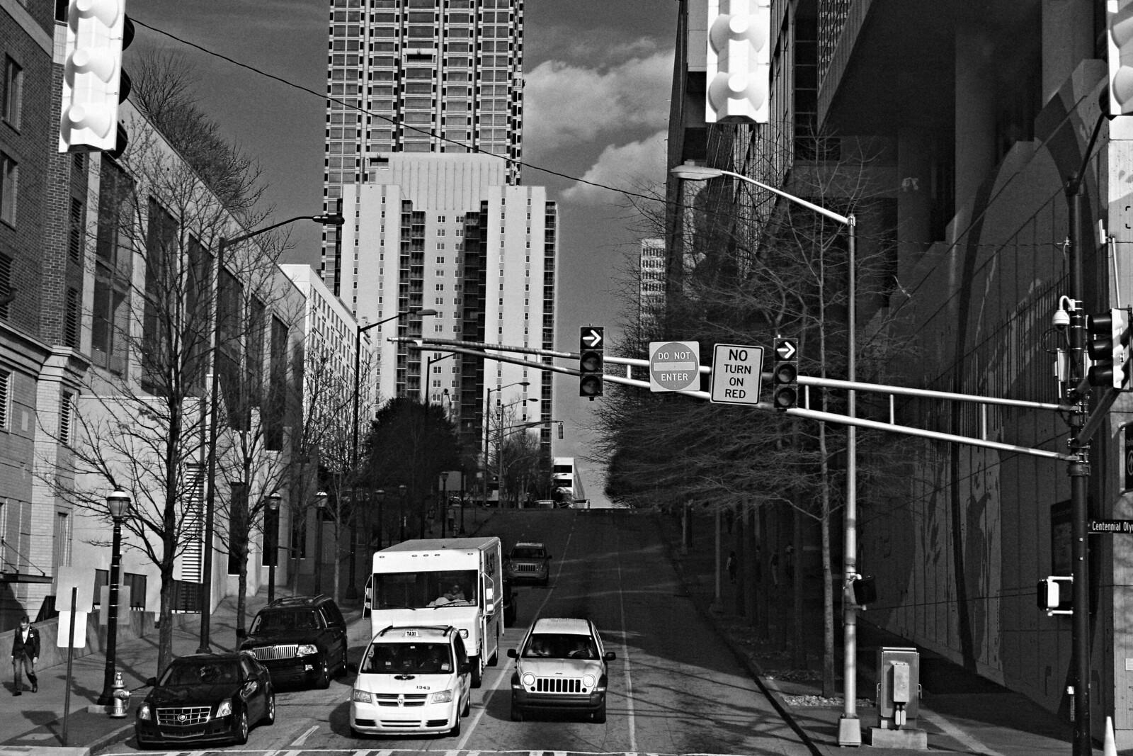 Centennial Olympic Park Drive and Baker Street, Downtown Atlanta, 2015