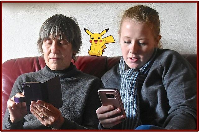 The Pokomon Go craze continues with our family