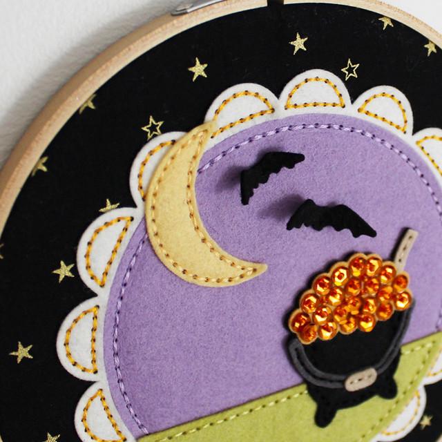 Beaded Cauldron Embroidery Hoop 5