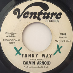 CALVIN ARNOLD:FUNKY WAY(LABEL SIDE-A)